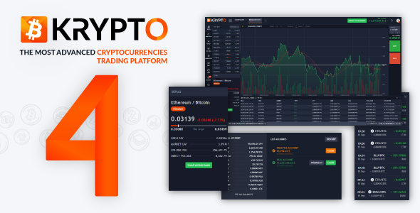 Krypto v4.1 - Live Trading, Advanced Data, Market Analysis, Watching List, Portfolio, Subscriptions TechSter.XYZ