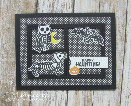 Halloween Skeletons Card by Holly Endress | Spooky Skeletons Stamp set by Newton's Nook Designs #newtonsnook #handmade #halloween