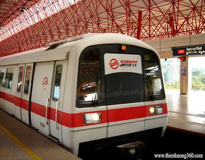 MRT Singapore - Tàu điện ngầm MRT ở Singapore