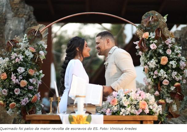 No último sábado (19), Charle Nunes, secretário-adjunto de agricultura da Serra, casou-se no estilo elopement wedding com a arquiteta Jade Sodré.