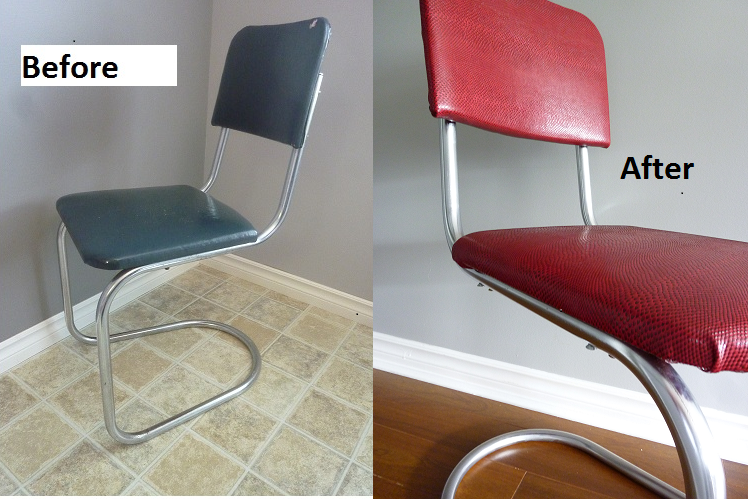 Retro Chrome Chairs How Much Does It Cost To Get A Chair Reupholstered Vintage Revised This Is The In S New Snake Skin I Hope You Enjoy Pictures Was So Fun Transforming These More Come