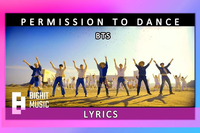 Permission to Dance   LYRICS   KARAOKE   BTS