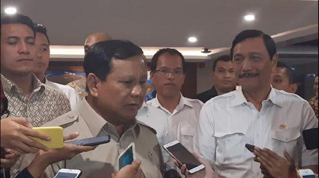 Luhut Sebut Prabowo Mengaku Salah Menilai Investor Cina