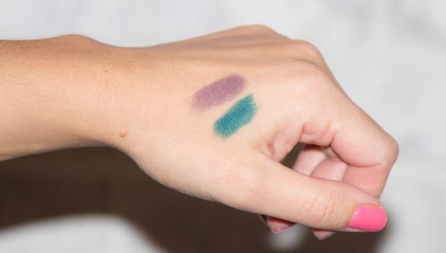 maquillage - swatches - prune - vert