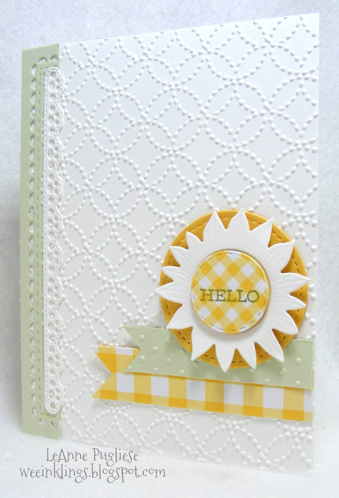 Active Stampin Up Honeycomb Embossing Folder Bee Hey Chick New Crafts