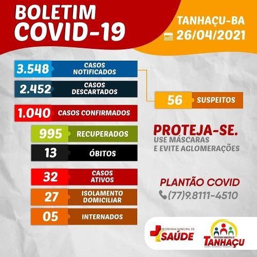 Tanhaçu registra 13º óbito por complicações da Covid-19