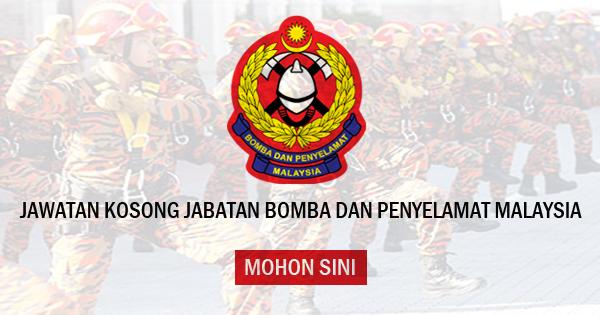 jawatan kosong bomba dan penyelamat