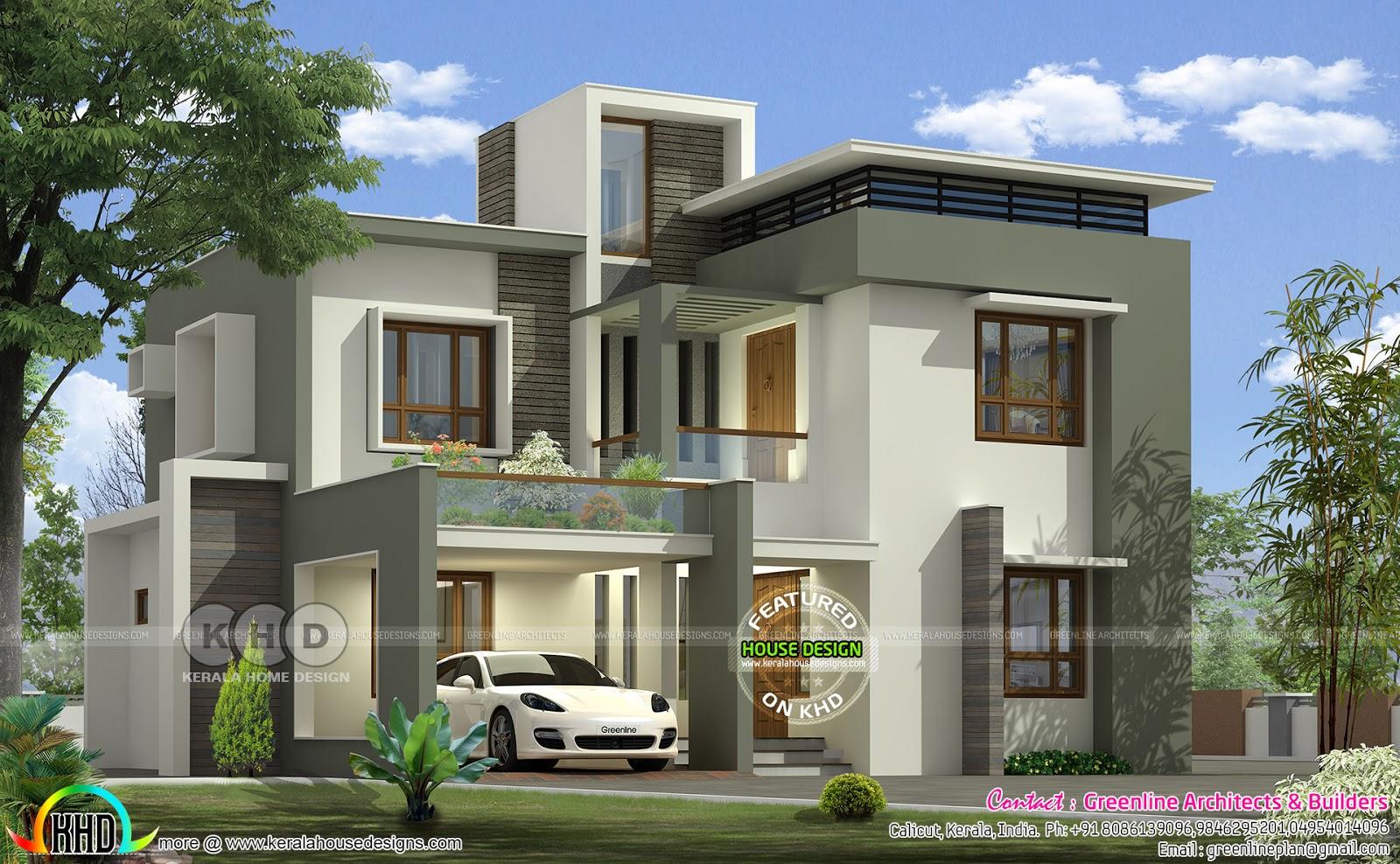 2856 Square Feet Contemporary Home Kerala Home Design