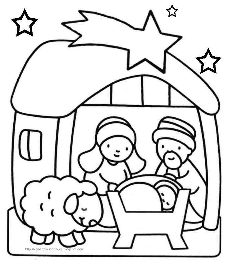 coloring pages jesus christmas - photo#3