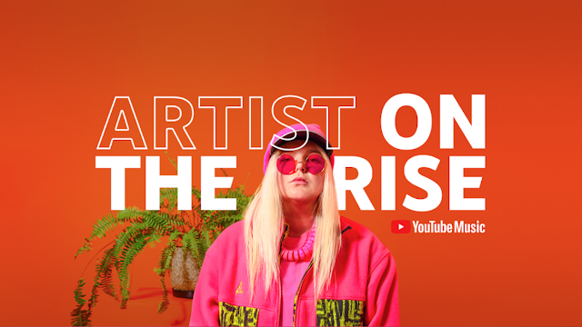Photo of Tones and I, with bold text saying 'Artist on the Rise'