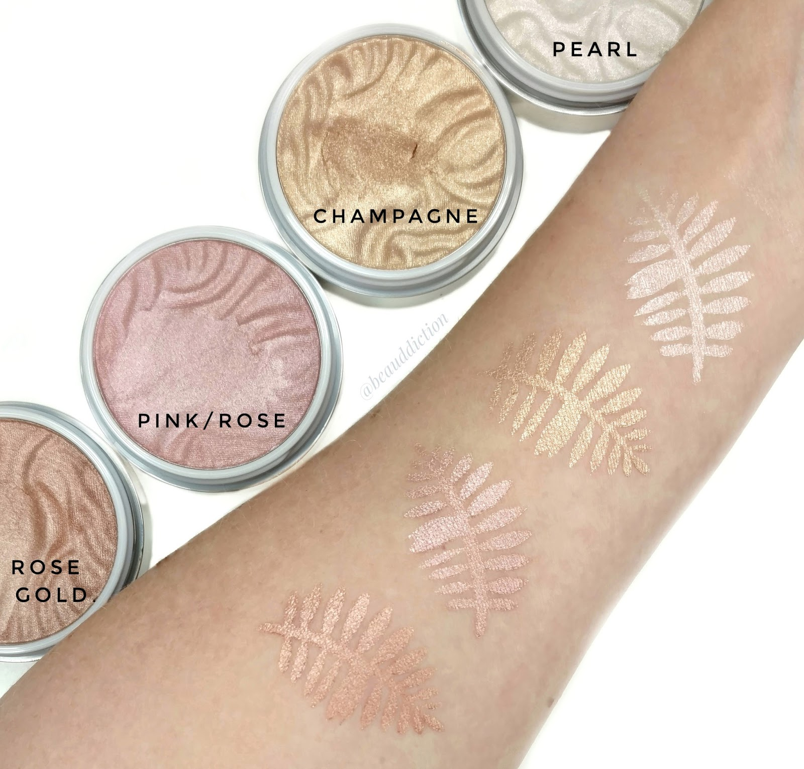 physicians formula butter highlighter swatches