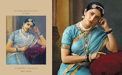 Tollywood heroines paintings download-Raja Ravi Verma