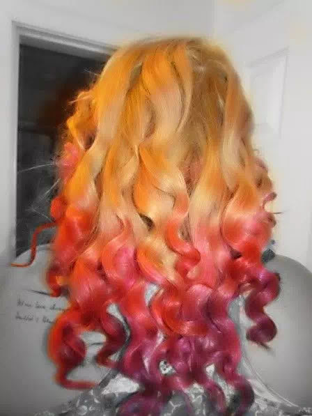 red pink and purple ombre