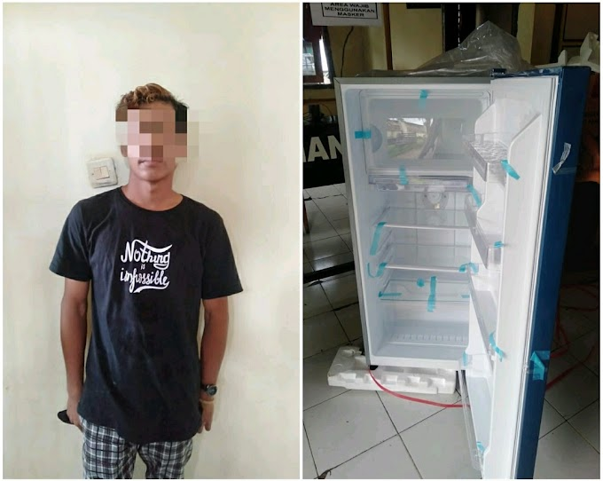 Diduga Curi Kulkas Bosnya, Pemuda Ini Diamankan Tim Puma Polres Dompu