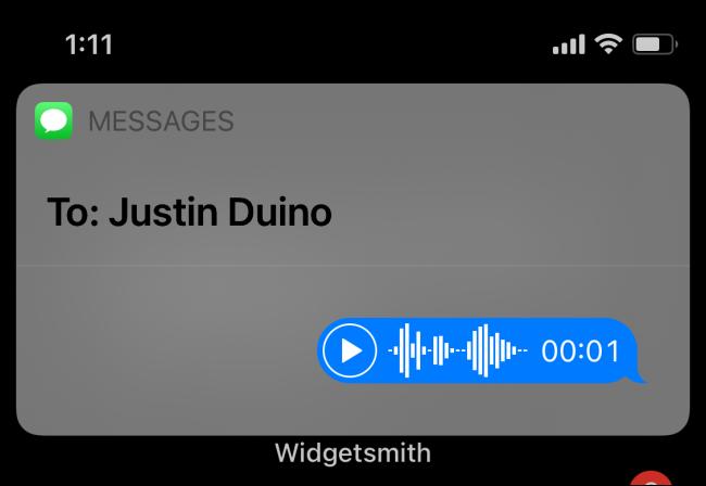 تم إرسال رسالة صوتية عبر Siri