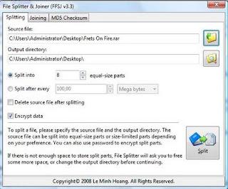 cara membagi file berukuran besar