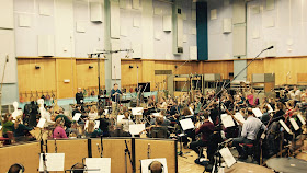 Patrick Hawes & the Royal Philharmonic Orchestra at Abbey Road Studios (Photo Tony Simpson)