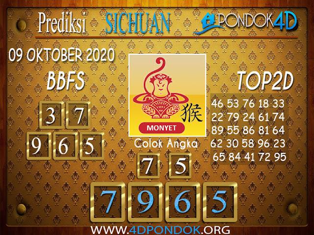 Prediksi Togel SICHUAN PONDOK4D 09 OKTOBER 2020