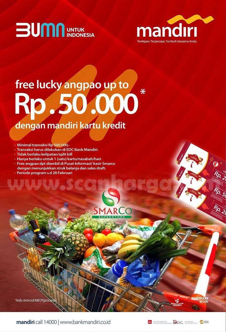 SMARCO Promo Free Lucky Angpao up to Rp 50.000 dengan Kartu Kredit Mandiri
