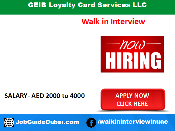 GEIB Loyalty Card Services LLC career for Sales Officer jobs in Dubai UAE