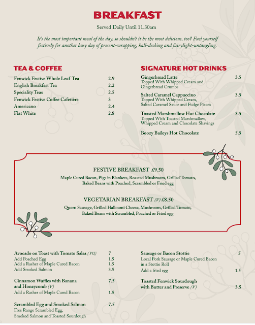 Rudolph's Restaurant Fenwick : Breakfast Menu