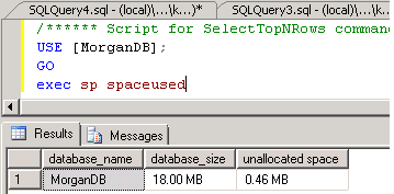 sql server query to get database size in sql
