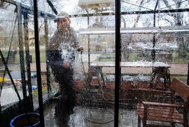 Städa växthuset innan vintern kommer!