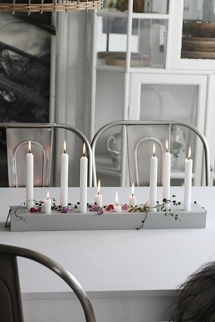 annelies design, webbutik, webbutiker, kök, köket, ljusstake, duo, ljusstakar, duo 60, stumpastake, grå, gråa, stearinljus