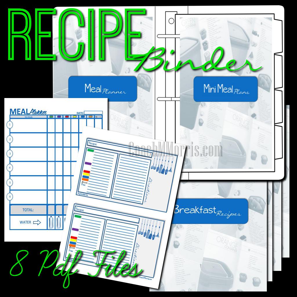 21 Day Fix Meal Plan Recipe Binder