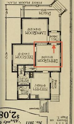 catalog floor plan, first floor, Sears Silverdale
