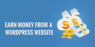 Earn money working from home with a Wordpress website easily