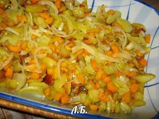 первый слов овощной запеканки это картофель