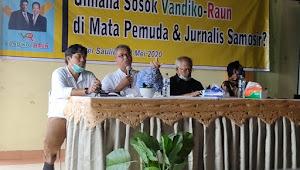 Pemuda dan Jurnalis Samosir Bedah Visi dan Misi VR