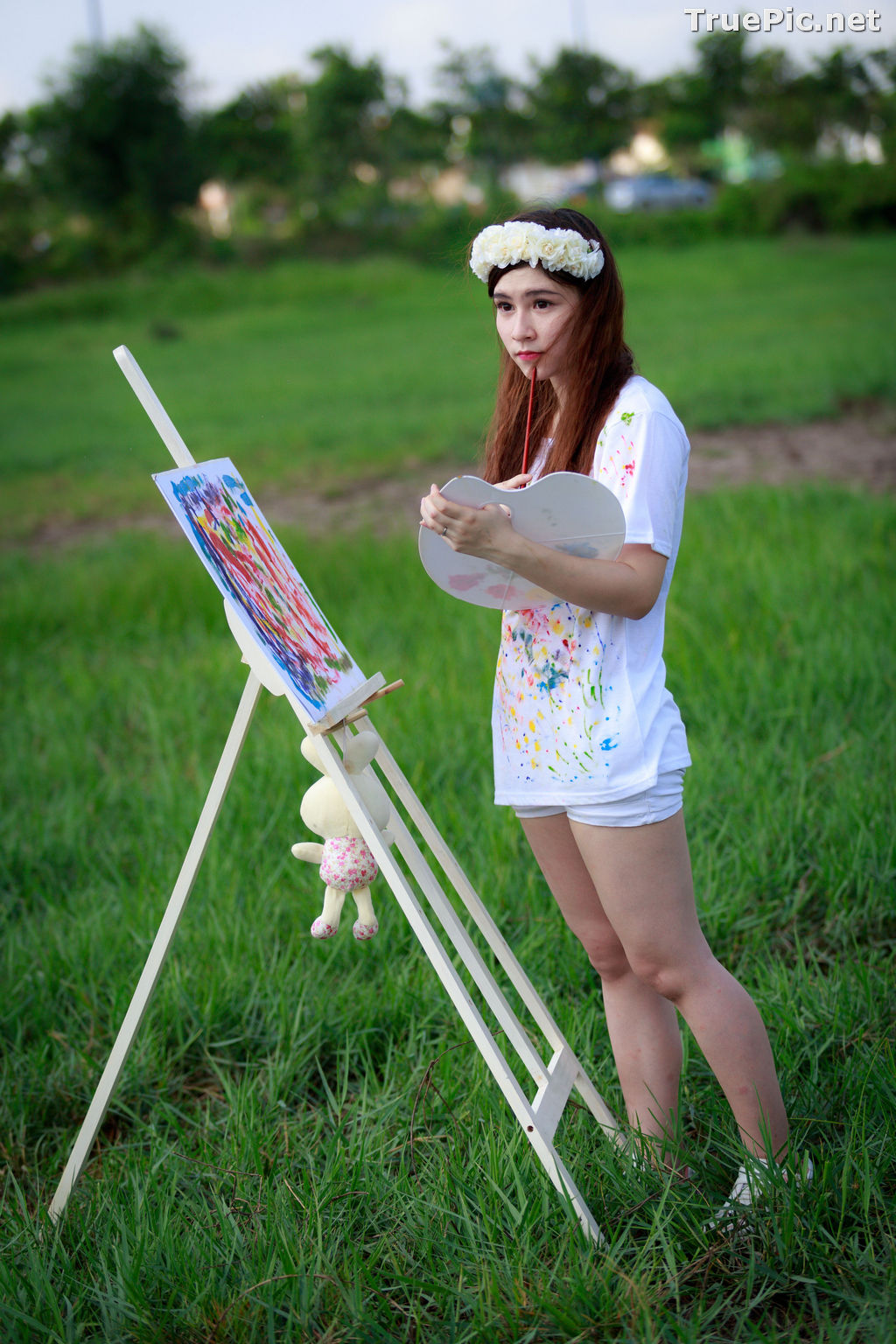Image Vietnamese Model - How To Beautiful Angel Become An Painter - TruePic.net - Picture-2