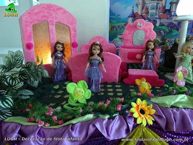 Decoração temática Princesa Sofia