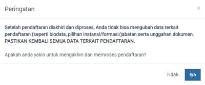 notifikasi mengakhiri pendaftaran cpns