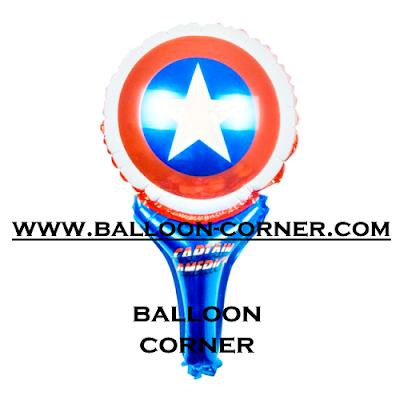 Balon Foil Raket Karakter Captain America