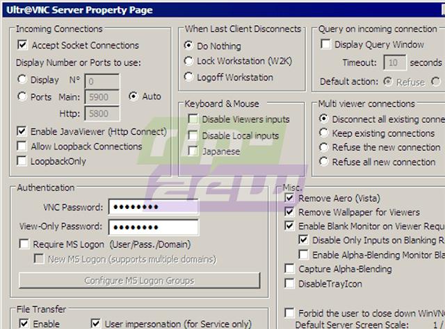 Software Remote Desktop UltraVNC