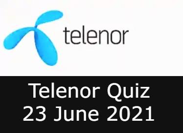 Telenor Quiz Answers Today 23 June