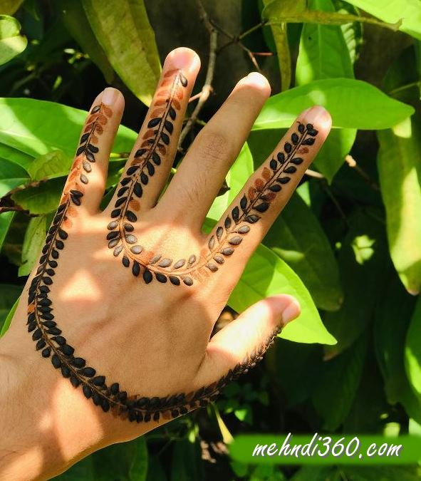 U Shaped Mehndi Designs Back Hand