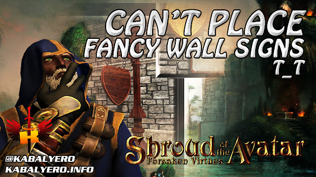 Can't Place Fancy Wall Signs, Ornate Greenhouse Row House 🏠 Shroud Of The Avatar