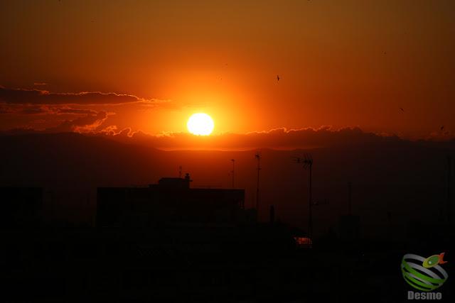 マドリードの夕焼け