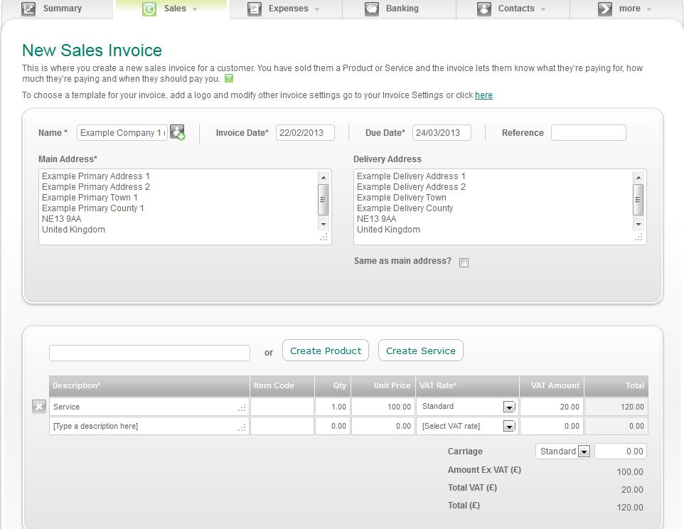 Sage Invoice Templates  vat invoice template uk use a sage