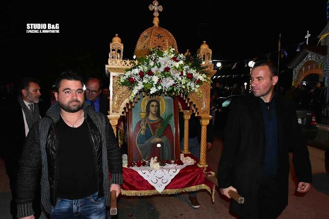 Την Μεγαλομάρτυρα Αγία Βαρβάρα γιόρτασαν στο Λάλουκα Άργους (βίντεο)