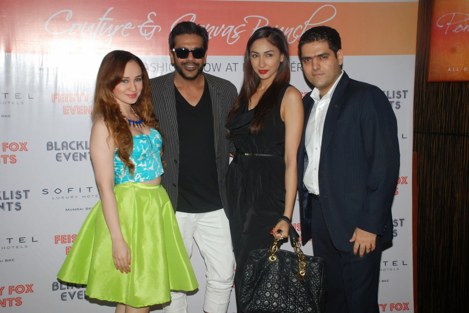 Stephanie Timmins, Rocky Star, Samantha Singh at Couture & Canvas Brunch at Sofitel,BKC