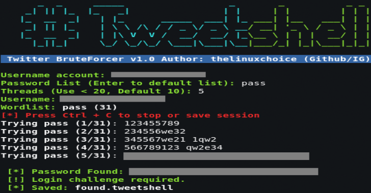 TweetShell : Multi-Thread Twitter BruteForcer In Shell Script