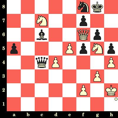 Les Blancs jouent et matent en 4 coups - Bent Larsen vs Dragoljub Ciric, Belgrade, 1964