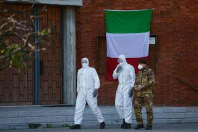 عدد الاصابات بفيروس كورونا في إيطاليا