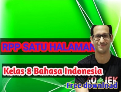 Download- rpp- 1- lembar- smp- bahasa –indonesia-  kelas- 8 -semester -2