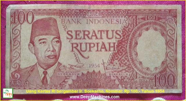 Gambar/ Video serta Keterangan Uang Soekarno bisa Menggulung sendiri